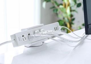 コンセント周りのイライラを解消する電源タップフォルダー「200-CB009」シリーズに、幅広Lサイズが登場
