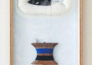 北欧の古いアイテムを用いた作品などを楽しめる元永彩子氏の個展「クワイエット・ライフ」