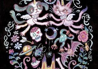 身近な素材によるミクスト・メディアで不思議な世界を描くチアキコハラ氏の個展「グリモワール」