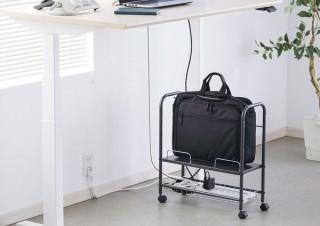 サンワサプライ、電源タップやケーブルを収納できるマルチワゴンを発売