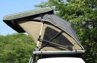 愛車がテントに早変わり! ルーフキャリアに取り付ける電動開閉式テントが登場