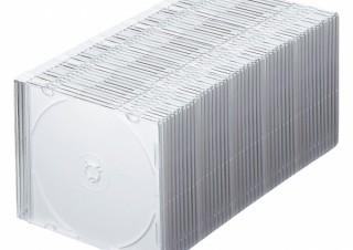 サンワサプライ、超薄型のブルーレイ/DVD/CDケース50枚セットを発売