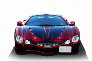 光岡自動車、デビルマンの顔やウイングをモチーフにしたデザインの「デビルマンオロチ」発表