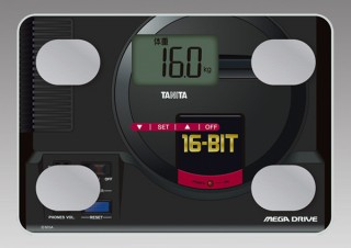 タニタ、セガとコラボした「メガドライブ体組成計」と「ドリームキャスト体組成計」を発売