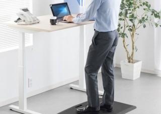 サンワサプライ、スタンディングデスクに最適な足腰の疲労軽減マットを発売