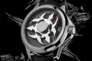 スイス時計ブランドのアーティア「シュリケン」発売、手首の動きに呼応して高速回転する手裏剣ダイアル搭載
