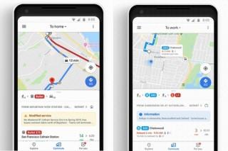 Googleマップがアップデート、「通勤」タブ追加で遅延情報の通知や出発前の情報集めが簡単に