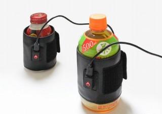 これからの寒い季節にペットボトルをずっと温かいままにできる「ペットボトルあったかバンド」