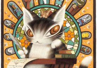 「猫のダヤン」の35周年を記念して作品の世界観を体感できる池田あきこ氏の原画展が開催