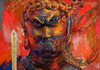 高島屋美術部の創設110年記念の一環で洋画家の絹谷幸二氏の個展「豊穣富嶽・菩提心」が開催