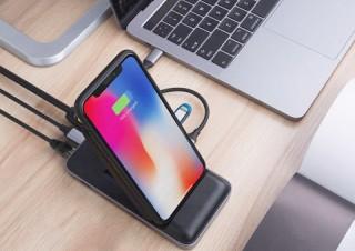 Mac&iPhoneユーザーに最適! 8in拡張ハブを備えたスタンド型ワイヤレス充電器が登場