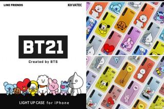 ロア、BT21のキャラクターが描かれたLEDフラッシュライト搭載iPhoneケースを発売