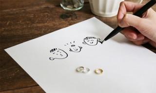 手書きの文字やイラストをそのまま刻印できるベビーリング専門店「nenenowa」に注目