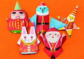 折り紙のサンタでフロアを彩る「折って!折って!オレ!サンタ 大阪イセタンのクリスマス」