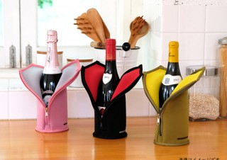 """赤・白・泡、3つの温度でワインの""""適温""""をキープする「ワインスーツ」。ワインセラーのさくら製作所より"""