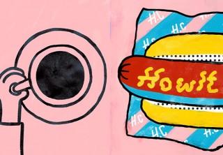 デザイン原理とカラーの抽象化を中心とした作品を紹介する東治輝氏の個展「Howlt Coffee」