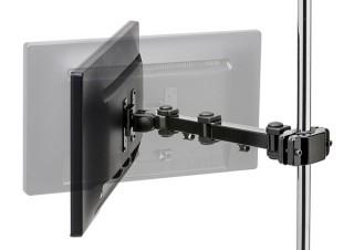 ディスプレイを支柱へ取り付けられる、3関節モニターアーム発売。サンワサプライより