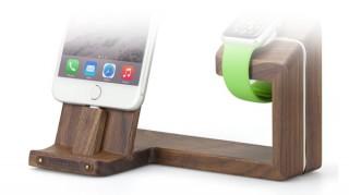 iPhoneとApple Watchをまとめて充電する、温かみのあるウッド素材デバイスステーション「TREE」