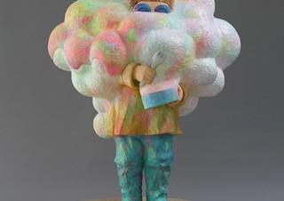 木彫制作メインで平面作品なども手掛ける野原邦彦氏の個展「今夜は本屋でパーティー」