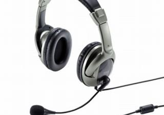 周囲の雑音を拾わずクリアな会話ができる「USBヘッドセット」、サンワサプライから