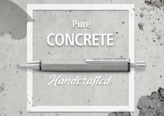 コンクリートのペン軸で1本1本がオリジナルの模様になる「コンクリート ボールペン」