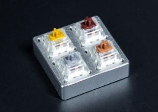 上海問屋、メカニカルスイッチの感触をいつでも味わえるアルミ製のテスト台を発売