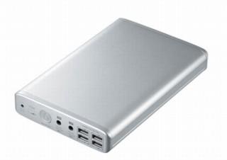 ノートパソコンに給電できる50000mAh大容量「モバイルバッテリー」、サンワサプライから