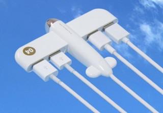 上海問屋、飛行機型の可愛い「USB2.0 ハブ」発売。合計4ポートで飛行機雲の再現も可能
