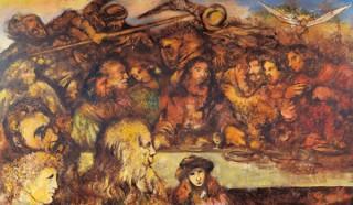 洋画家の福沢一郎の生誕120年記念で多摩美術大学に所蔵された全作品を一堂に展示