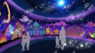 アラジンと魔法のランプやラプンツェルをコンセプトにした「ふしぎなミュージアム」