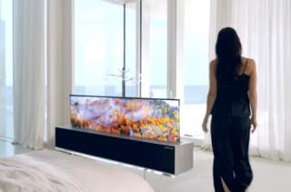 LG電子、ディスプレイをまるごと収納できるロール式OLEDテレビを発表。2019年中に製品化か