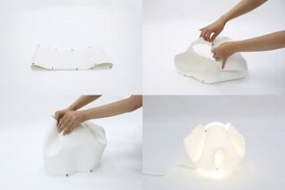 デザインファームeau、1枚の柔らかなシートが照明に変身する「ジェリーフィッシュライト」