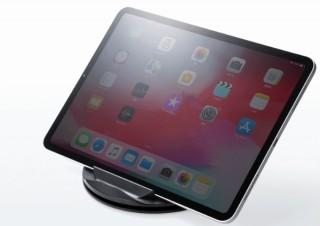スマホやタブレットをくるくる360度回転させながら保持できる「折りたたみ式スタンド」