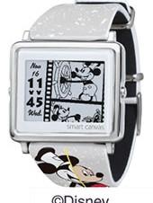 エプソン、電子ペーパー腕時計「Smart Canvas」のミッキー90周年デザイン限定モデルを発売