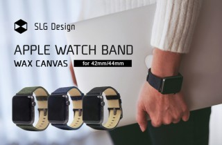 SLG Design、100%コットンのキャンバス地を採用したApple Watch用バンドを発売