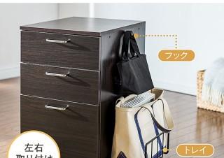サンワサプライ、机の下に設置可能なカバン置き搭載木製デスクワゴン発売