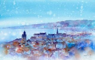 実店舗と同時にWeb展覧会も開催されている古山拓氏の個展「水彩で旅するヨーロッパ」