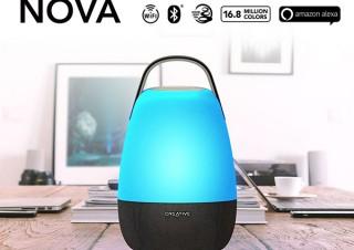 クリエイティブメディア、音と光で空間演出するAlexa搭載Creative Nova発売