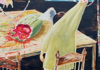 コミカルさと不穏な空気が混然一体となった世界を楽しめる大澤晴美氏の個展「My Dear」