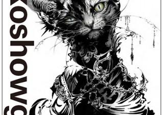 ダイナミックな白黒コントラストが特徴的な猫将軍の個展「NEKO」