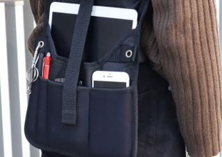 サンコー、スマホやタブレットを手ぶらで持ち運べるベルトポーチを発売