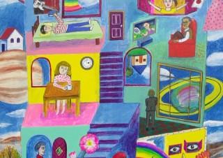 まるで覗いてみたような空想の世界が表現されている後藤友香氏の新作展「家」