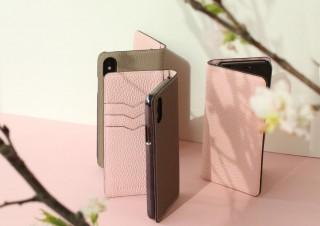 桜が待ち遠しくなる! 柔らかく発色の好いシュリンクカーフレザーを使ったiPhoneケース「サクラピンク」