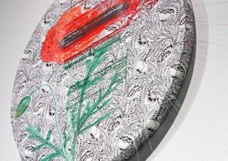 糸の結び目だけで構築したKnotsシリーズなどの作品を紹介する宮田彩加氏の個展「花を形成するプロット」