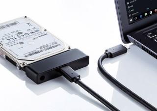 サンワサプライ、内蔵HDDのSATAコネクタを手軽にUSB接続に変換するケーブルを発売