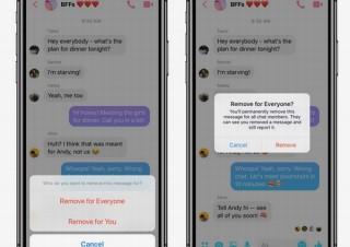 Facebook Messenger、投稿メッセージを10分以内なら削除できる新機能追加