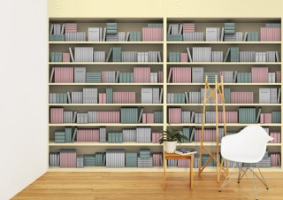 WhO、「LIBRO STYLE」とのコラボで本が飾られている空間を表現した壁紙を発売