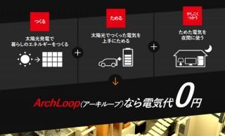 太陽光発電×電気自動車で「電気代0円」を実現する完全自立型住宅「ArchLoop(アーキループ)」