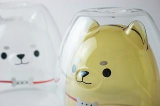 R&K JAPAN、内面に「しば犬」がデザインされた職人の手作りのダブルウォールグラスを発売