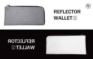 """光を反射する革""""リフレクターレザー""""で作られた個性的なL字型ウォレット「LUCE」"""